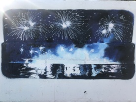 Street art - promotion of the Busan firework festival